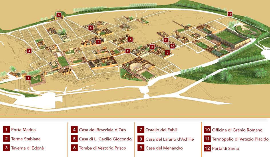 Pompei itinerari e guide portale numismatico dello stato for Mappa della costruzione di casa